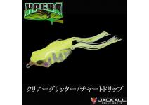 Jackall Kaera Clear Glitter Chart drip Frog