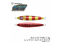 Jackall Chibimeta TYPE-1 Red gold stripe